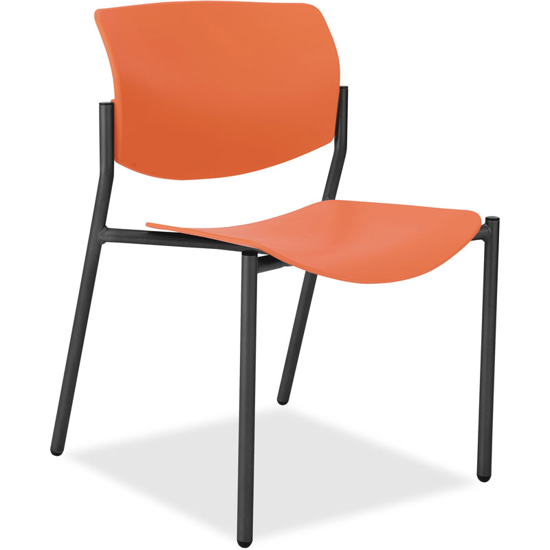 Lorell Stack Chairs with Molded Plastic Seat & Back - 83113A203