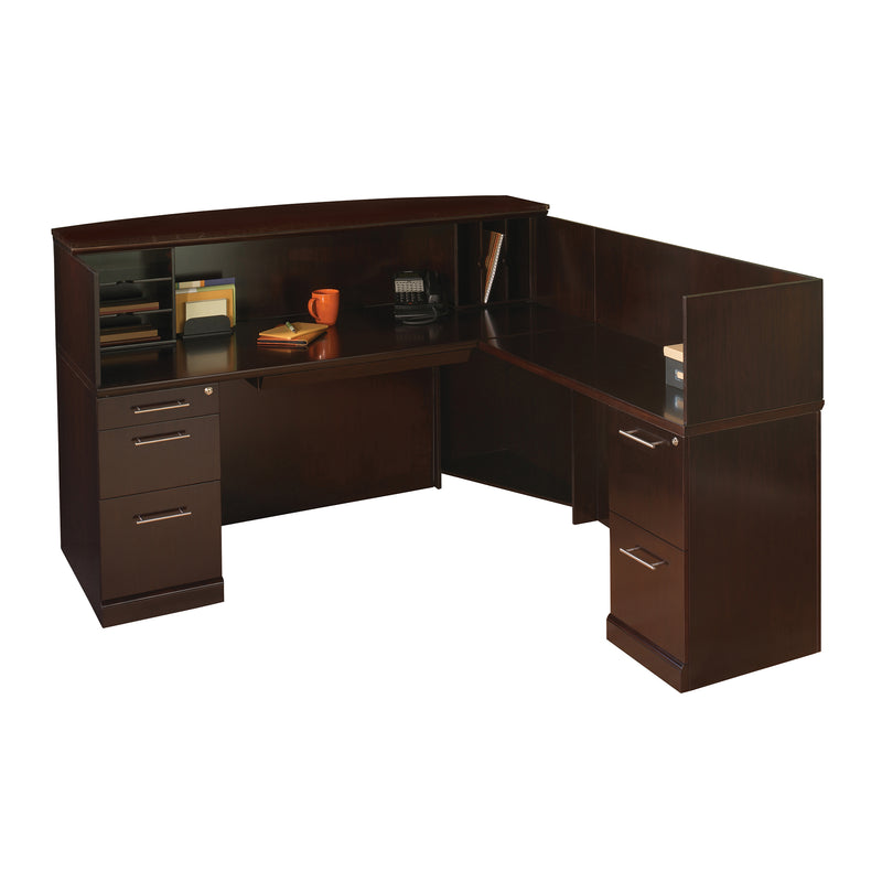 Sorrento Reception Station with Veneer Counter, Right Hand Return
