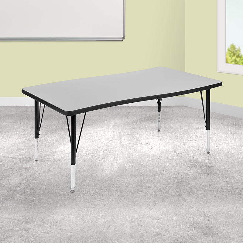 "28""Wx48""L Grey Activity Table"