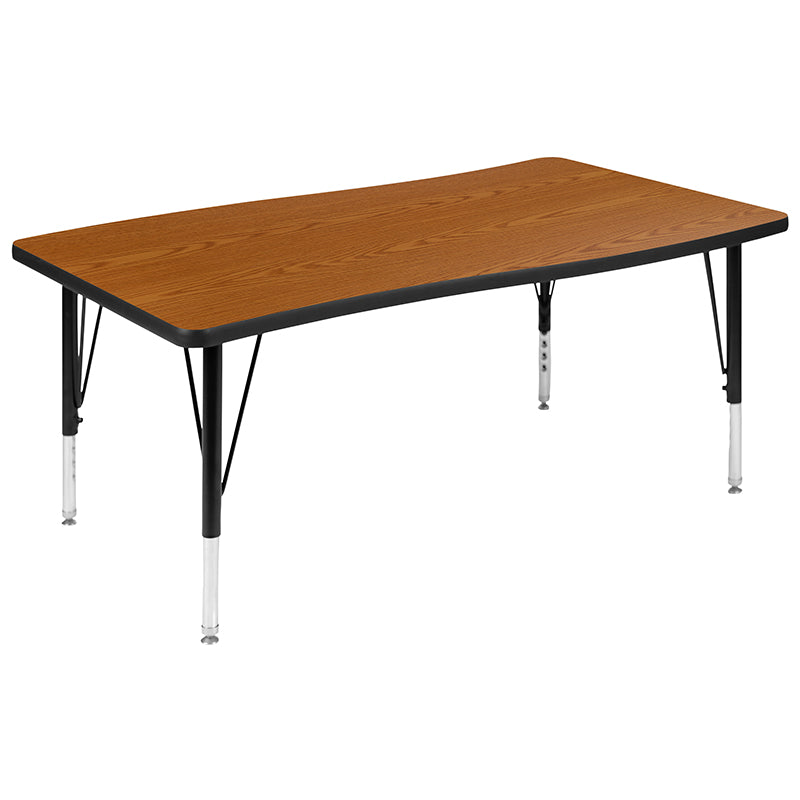"28""W x 48""L Oak Activity Table"