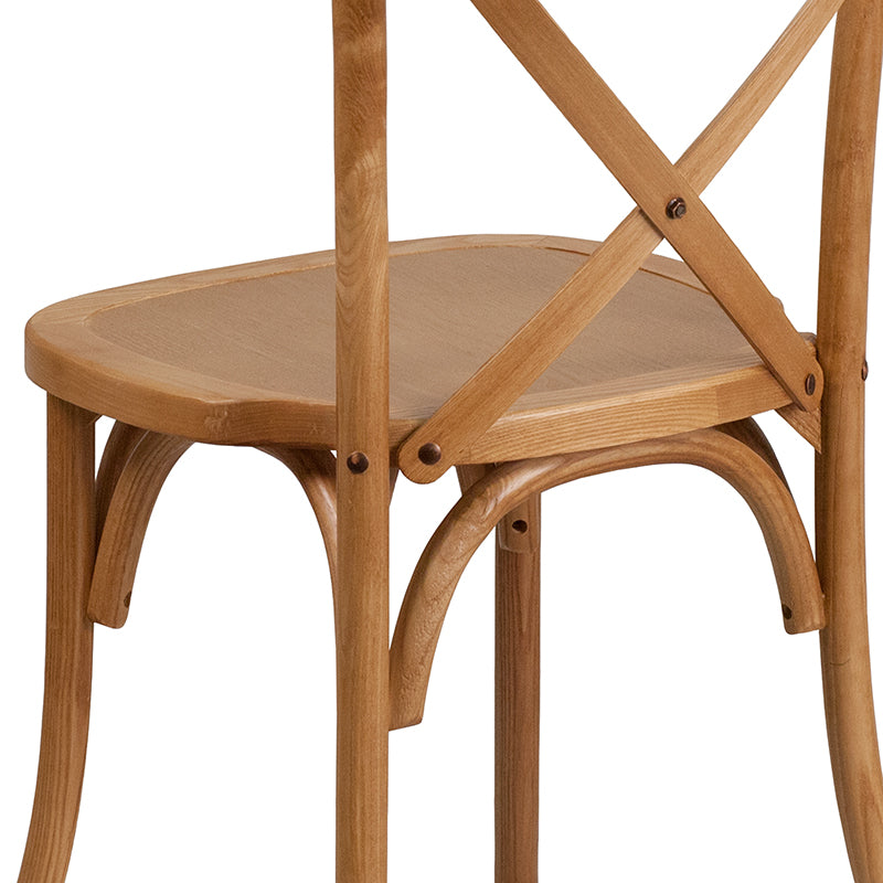 Oak Cross Back Chair