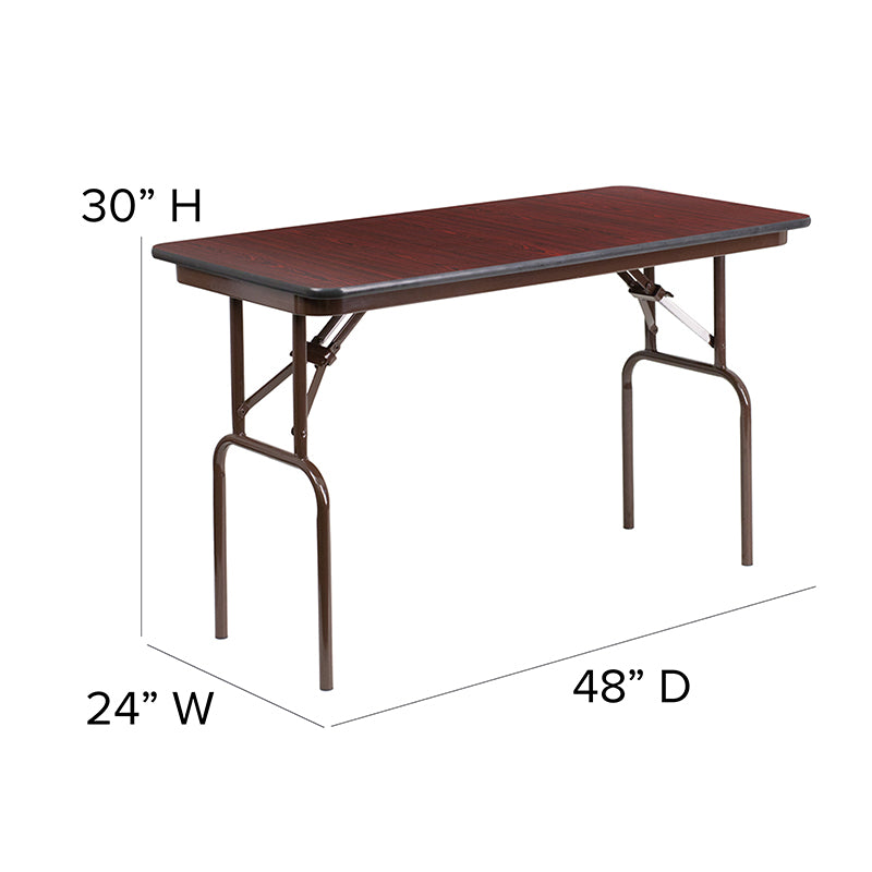 24x48 Mahogany Wood Fold Table