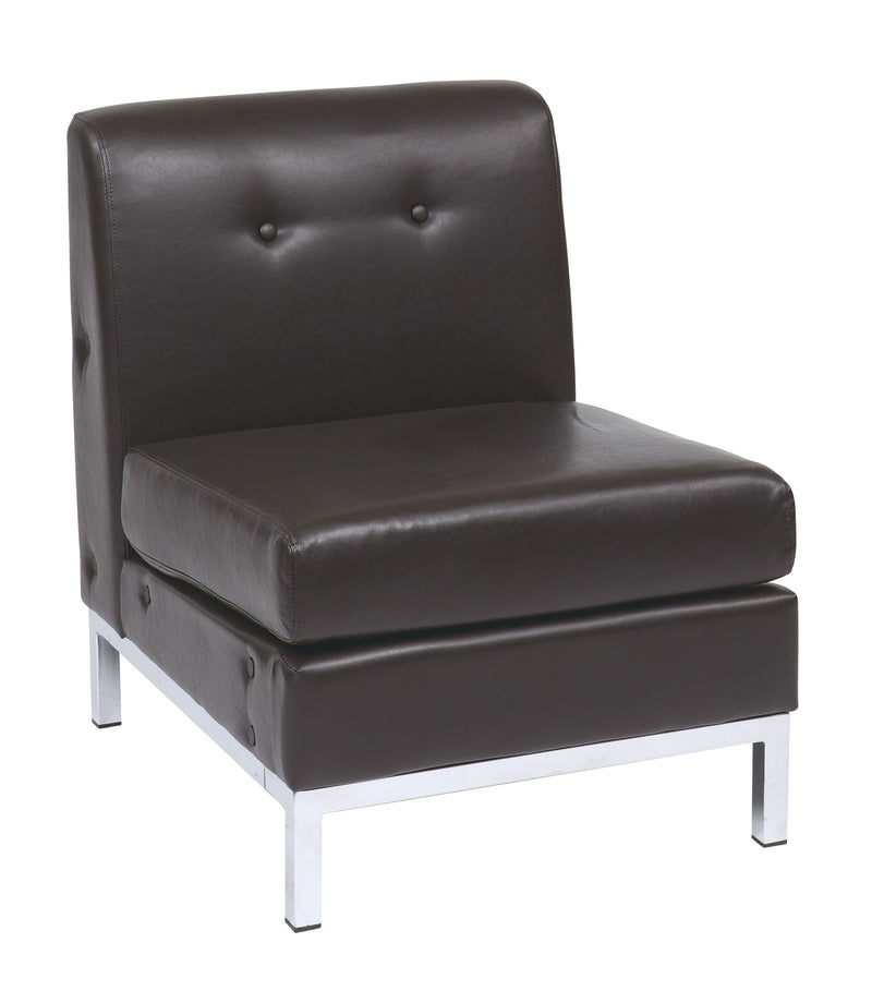 Wall Street Armless Chair - Acorn Office Products