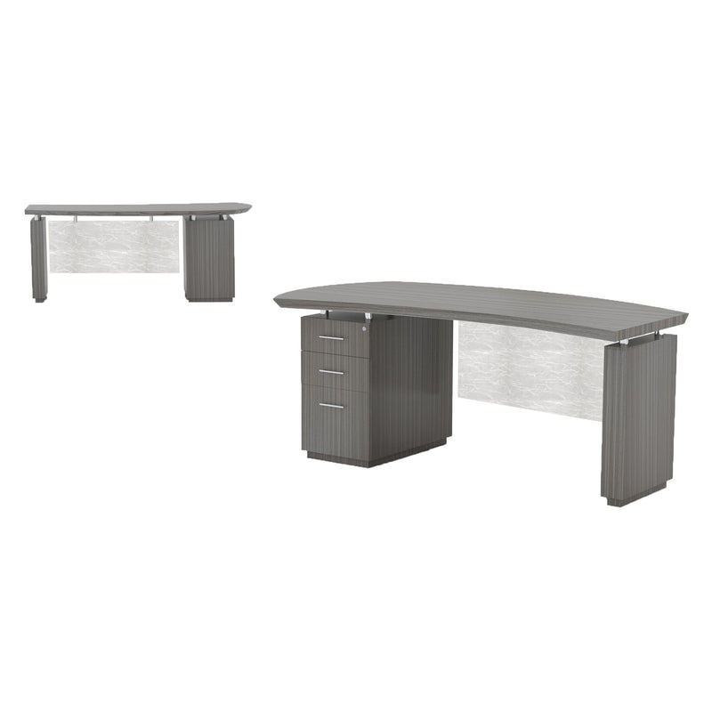"Sterling 66"" Left Handed Desk, 1 B/B/F Pedestal - Acorn Office Products"
