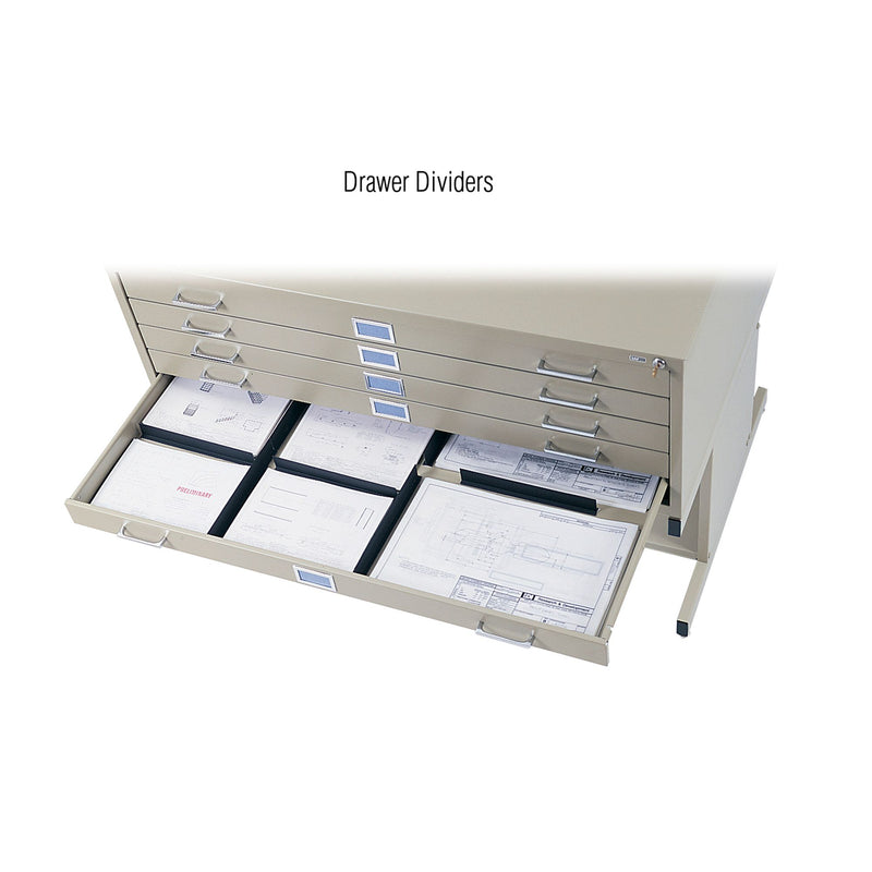 "5-Drawer Steel Flat File for 30"" x 42"" Documents - Acorn Office Products - Safco Products"