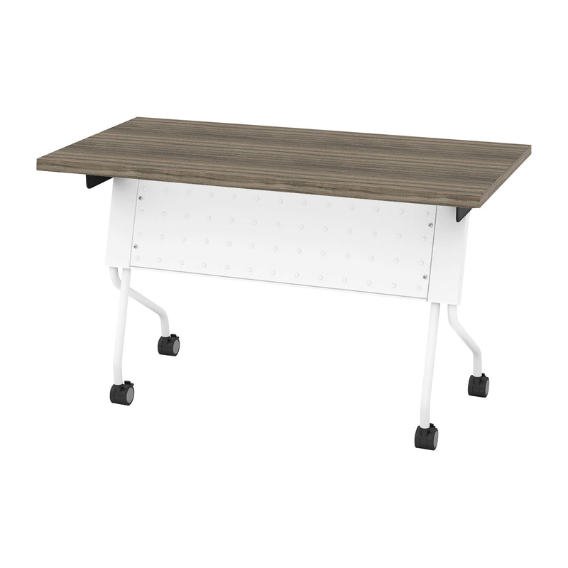 4' White Frame with Urban Walnut Top - Acorn Office Products - Office Star