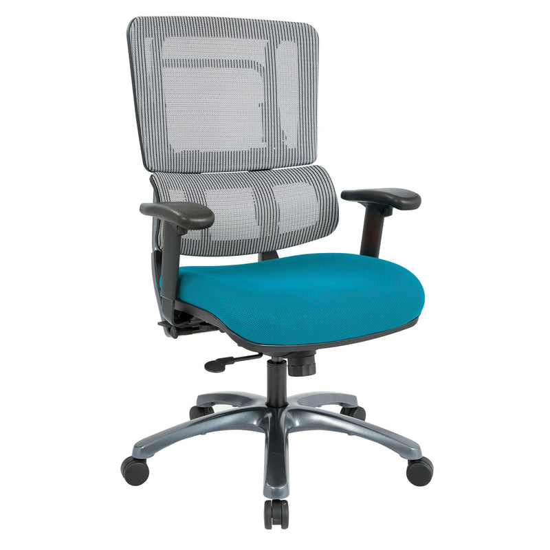 Vertical Grey Mesh Back Chair with Titanium Base - Acorn Office Products