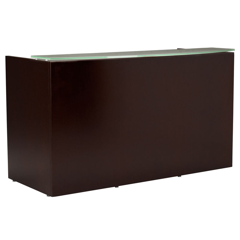 Mira Reception Station Glass Counter Top