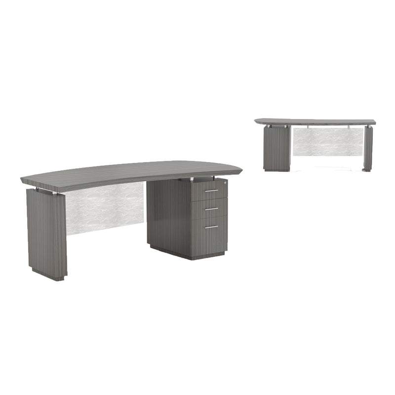"Sterling 66"" Right Handed Desk, 1 B/B/F Pedestal - Acorn Office Products"