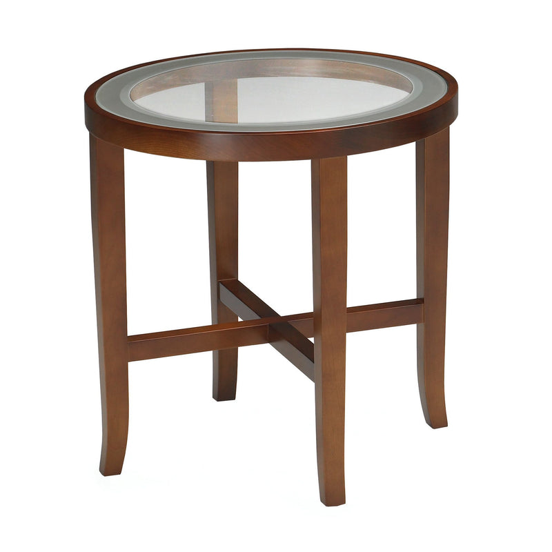 Illusion End Table with Glass Top