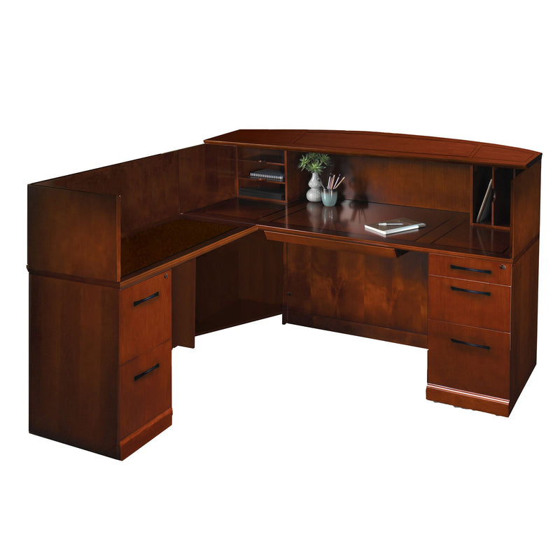 Sorrento Reception Station with Veneer Counter, Left Hand Return