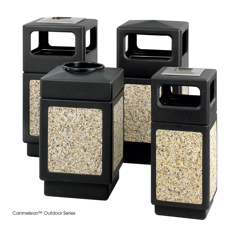 Canmeleon™ Aggregate Panel, Ash Urn/Side Open, 38 Gallon - Acorn Office Products - Safco Products