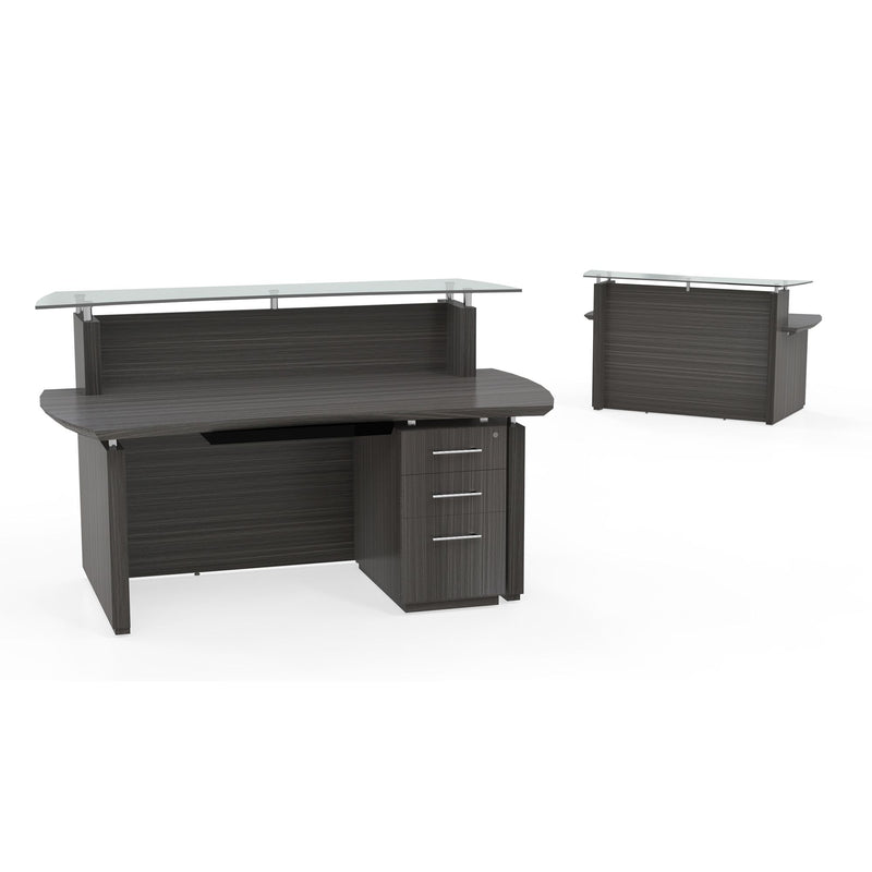 "Sterling 72"" Reception Station, 1 B/B/F Pedestal - Acorn Office Products"