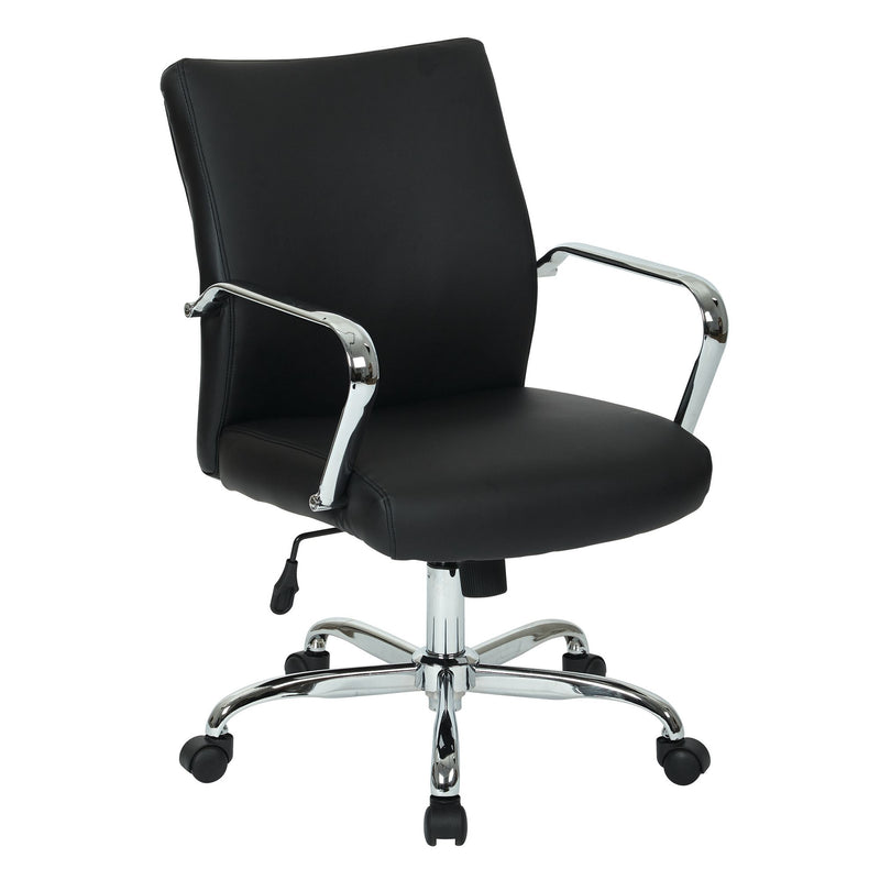 Black Faux Leather Manager Chair - Acorn Office Products - Office Star