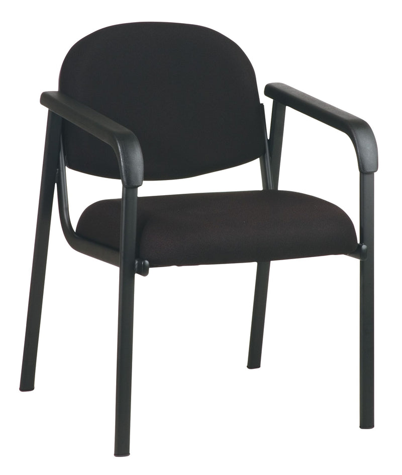 Designer Plastic Visitor Chair with Shell Back