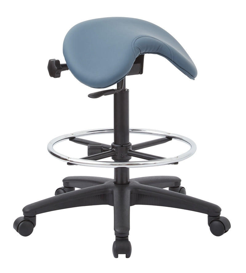 Backless Stool with Saddle Seat - Acorn Office Products - Office Star