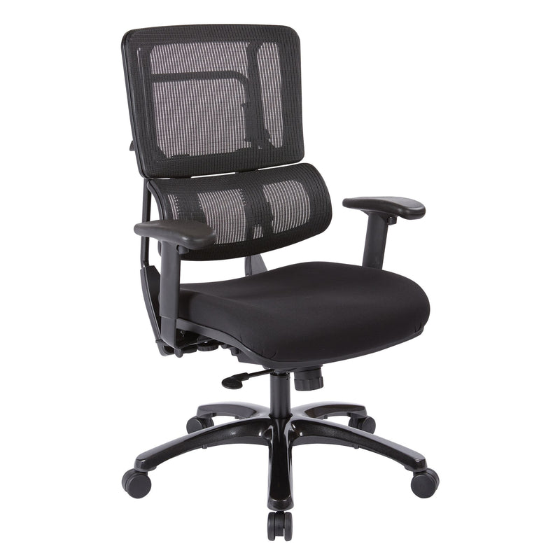 Vertical Black Mesh Back Chair