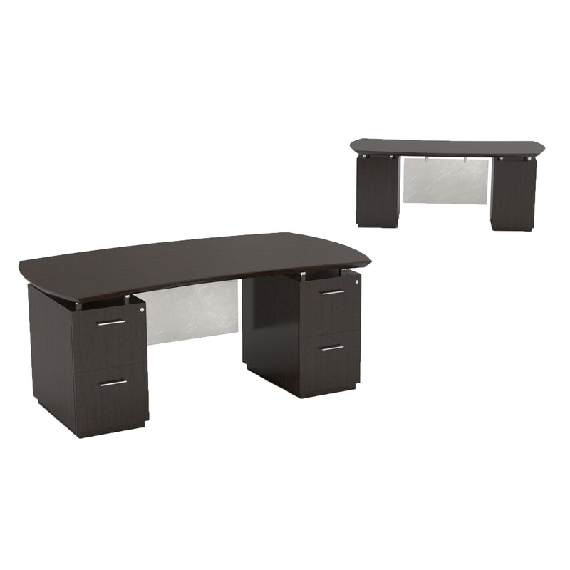 "Sterling 72"" Desk, 2 F/F Pedestals - Acorn Office Products"