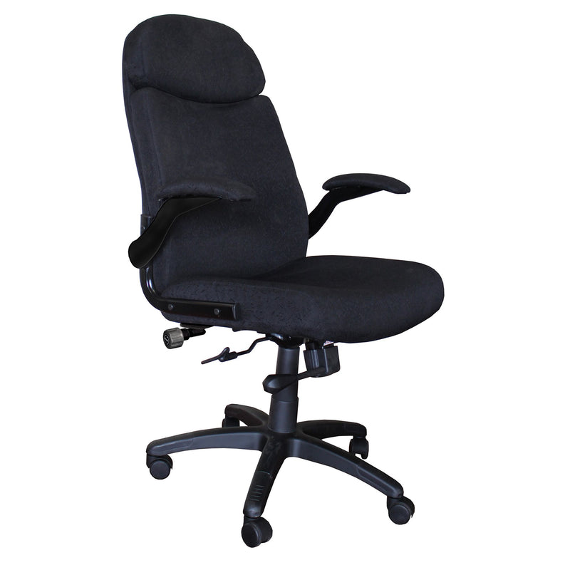 Comfort Big & Tall Pivot Arm Chair, Fabric - Acorn Office Products - Safco Products