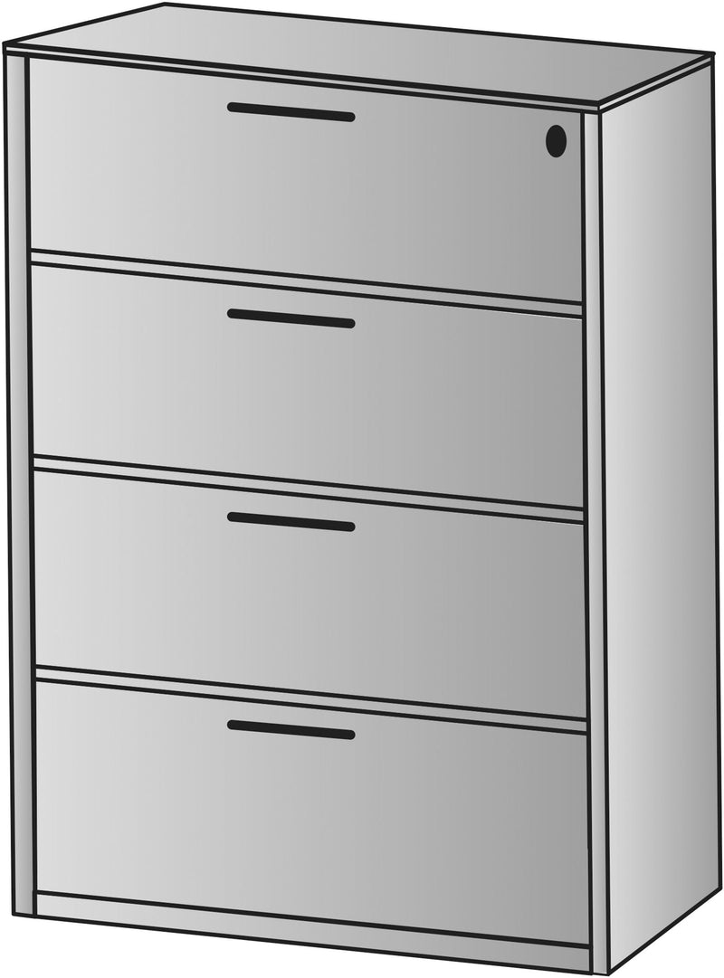 "Napa Four-Drawer Lateral File 36""X22""X56"
