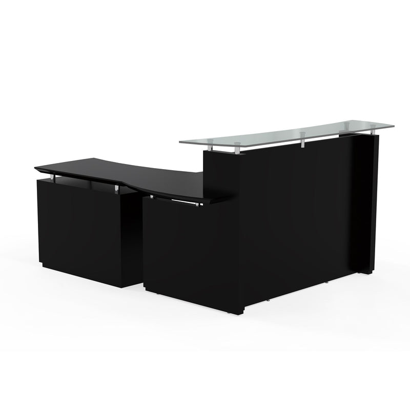 "Sterling 72"" Reception Station, 1 Reception Lateral File with Acrylic Door - Acorn Office Products"