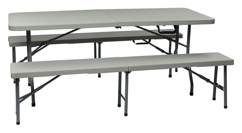 3 Piece Folding Table and Bench Set - Acorn Office Products - Office Star