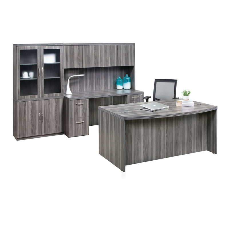 "Aberdeen® Series 66"" Bow Front Desk - Acorn Office Products - Safco Products"