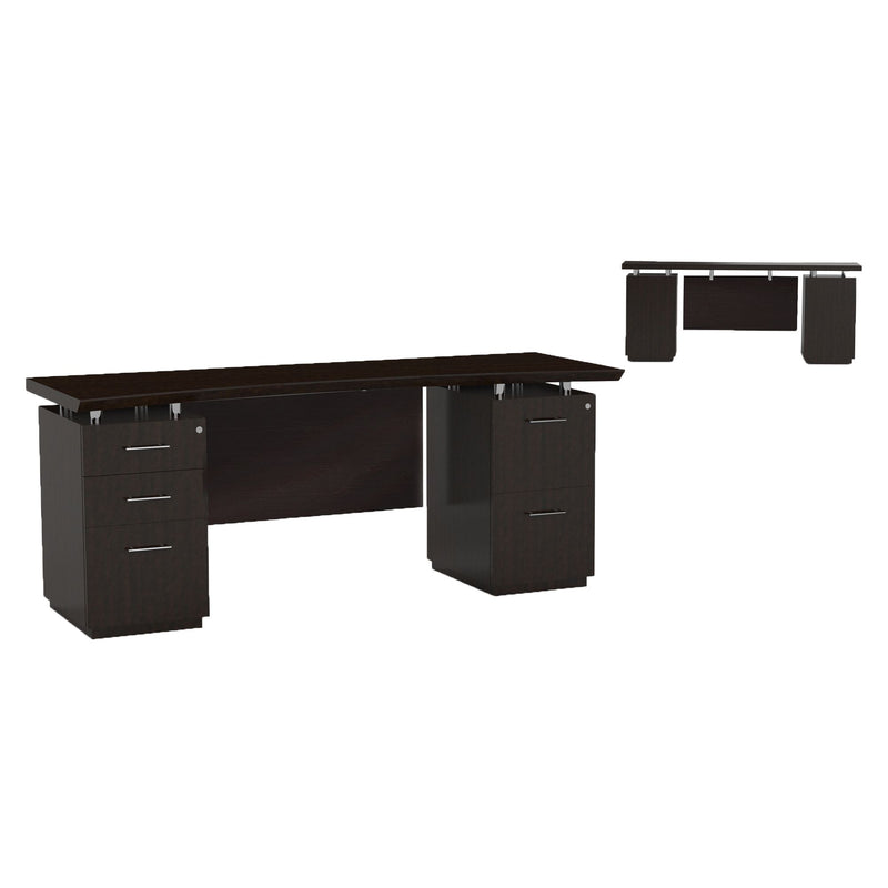 "Sterling 72"" Credenza, B/B/F & F/F Pedestals - Acorn Office Products"