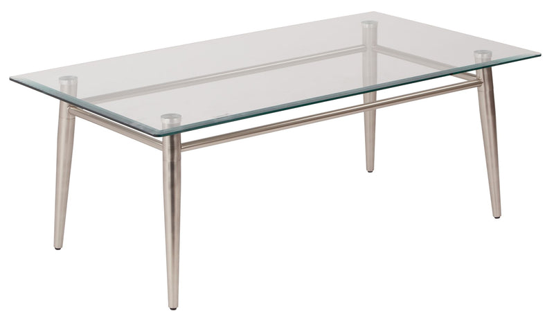 Brooklyn Glass Top Coffee Table - Acorn Office Products - Office Star