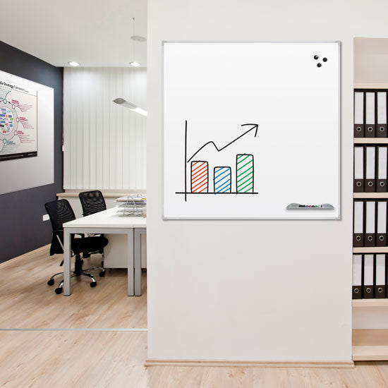Porcelain Steel Whiteboard - Ultra Trim