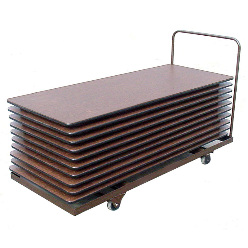 Flat Stacking Rectangular Table Truck