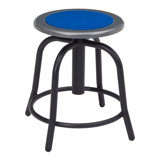 Adjustable Height Stool with Steel Seat and Black Base - Acorn Office Products - National Public Seating
