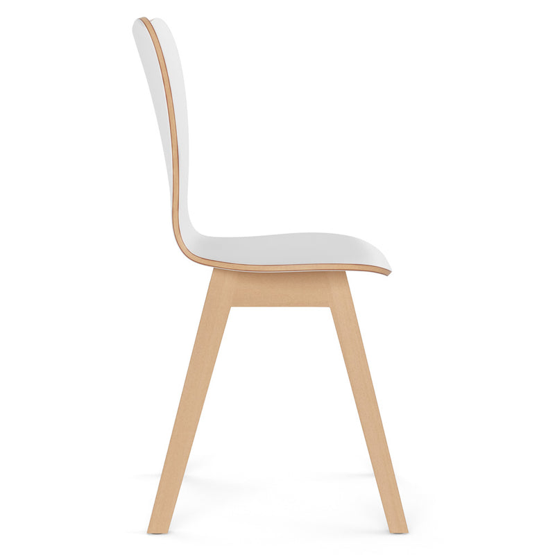 All Wood Guest Chair with Light Wood Base
