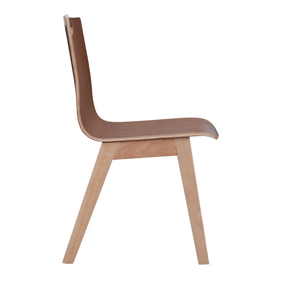 All Wood Guest Chair with Hole in Back and Light Wood Base - Acorn Office Products - Office Source