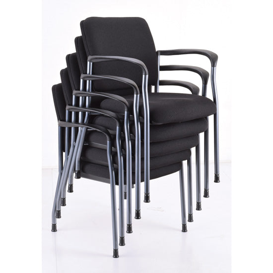 Guest Chair with Arms and Titanium Gray Frame