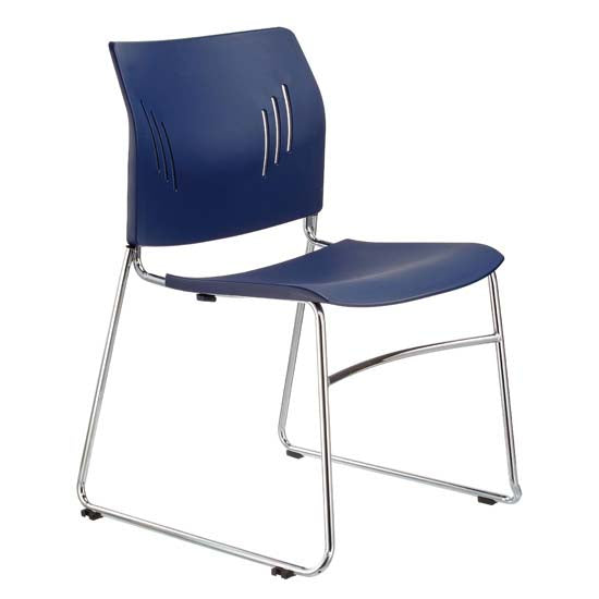Armless Stackable Side Chair with Chrome Frame - Acorn Office Products - Office Source