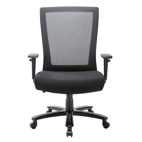 Big and Tall High Back Chair with Black Frame - Acorn Office Products - Office Source