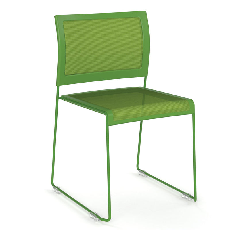 Mesh Stack Chair with Painted Frame