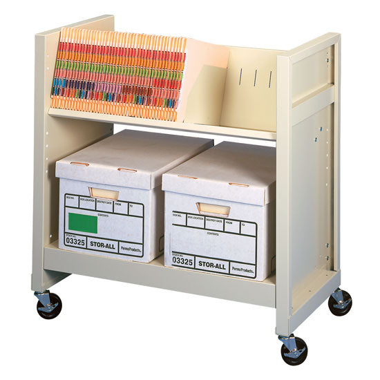 Basic File Cart - Flat and File - Acorn Office Products - Datum Storage Solutions