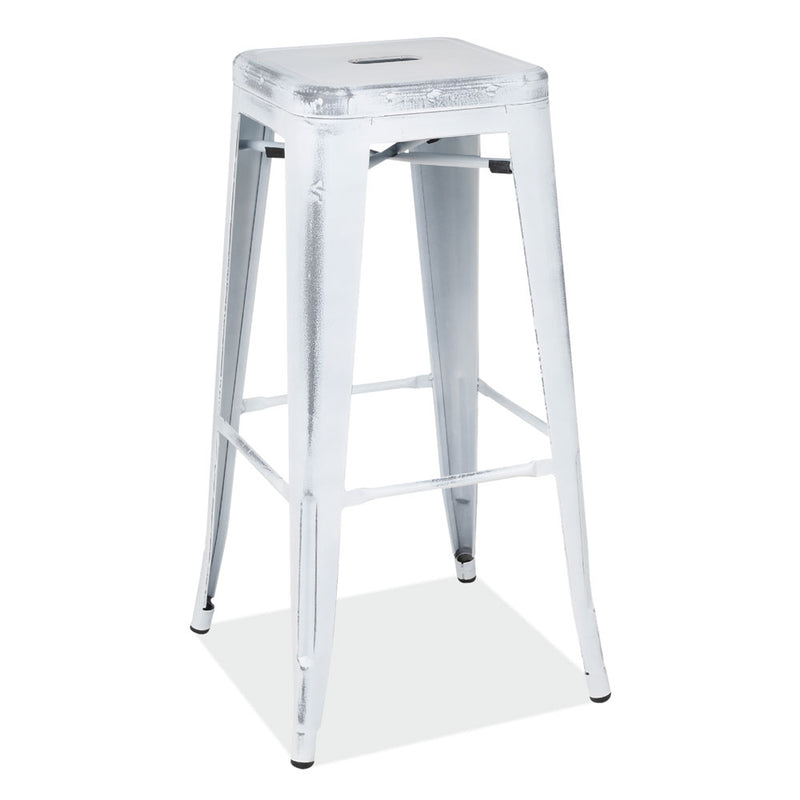 30''H Backless Indoor/Outdoor Distressed Bar Stool - Acorn Office Products - Office Source