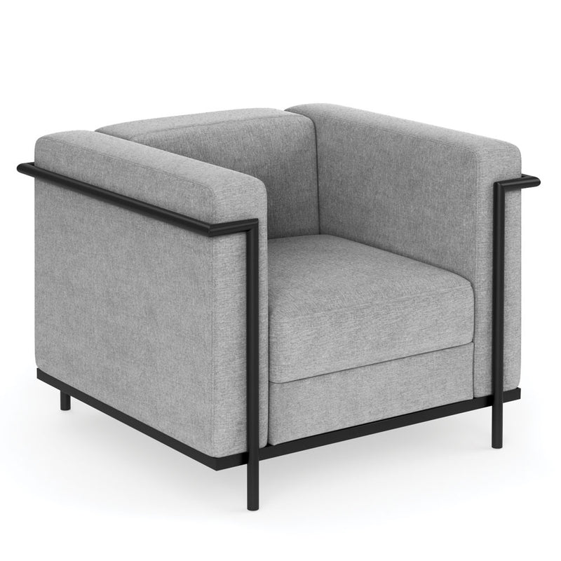 Club Chair with Matte Black Metal Frame - Acorn Office Products - Office Source