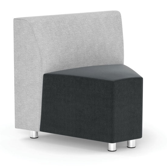 Armless Corner Modular Chair with Silver Post Legs - Acorn Office Products - Office Source