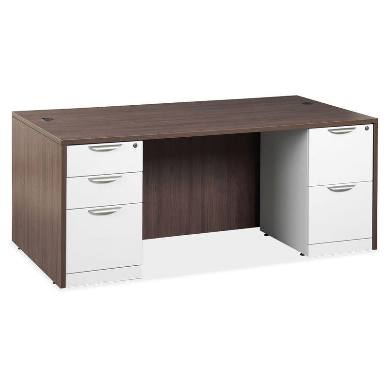 Double 3/4 Pedestal Desk - 71'' x 30''