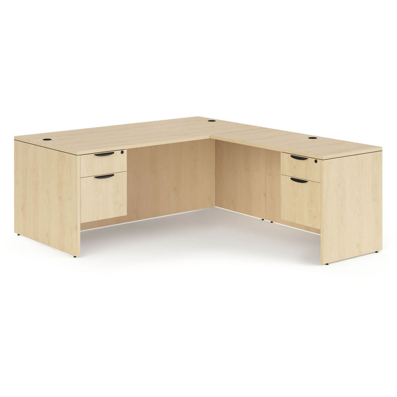 "Double 3/4 Pedestal ""L"" Desk - 66"" x 30"""