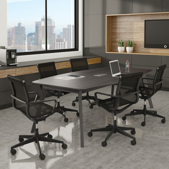 94'' Boat Shape Conference Table with Grommet