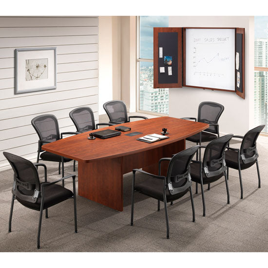 Boat Shaped Conference Table with Slab Base - Acorn Office Products - Office Source