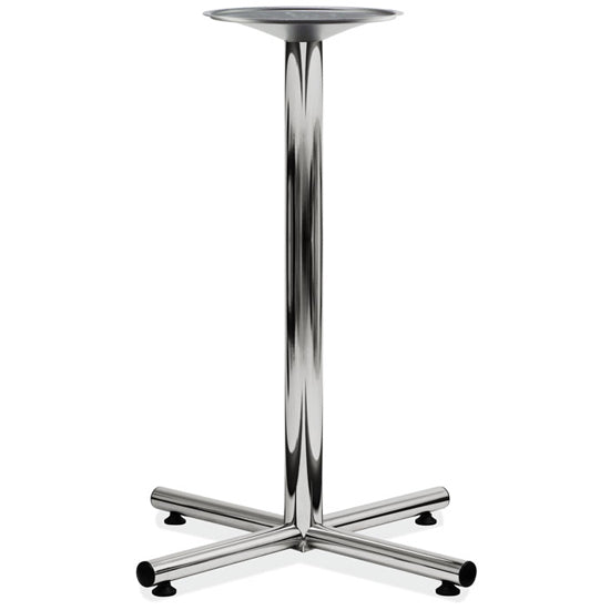 Cafe Height Cross Base - Chrome - Acorn Office Products - Office Source
