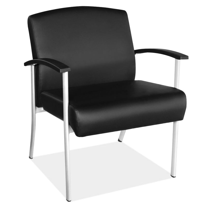 Big and Tall Guest Chair with Silver Frame - Acorn Office Products - Office Source