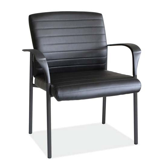 Guest Arm Chair with Black Frame