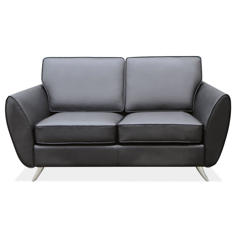 Loveseat with Brushed Chrome Legs